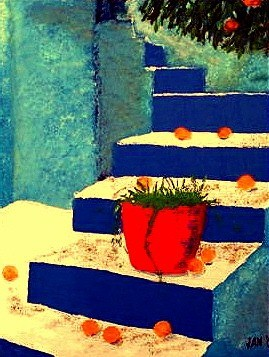 Jan Wall - Blue Stairs