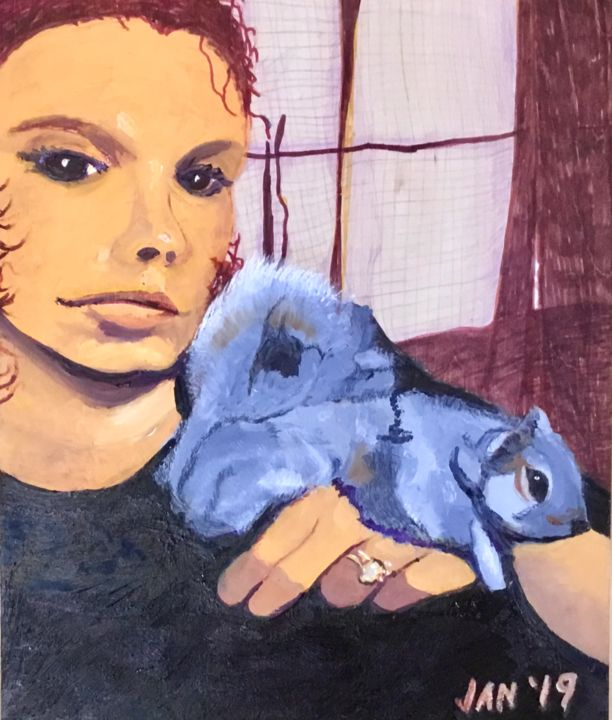 Jan Wall - Kayla and the Squirrel